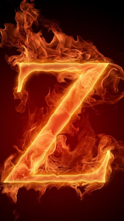 Burning Letter Z Wallpaper - Free iPhone Wallpapers