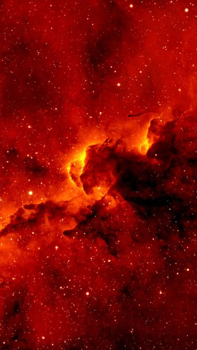 Red Nebula Wallpaper - Free iPhone Wallpapers