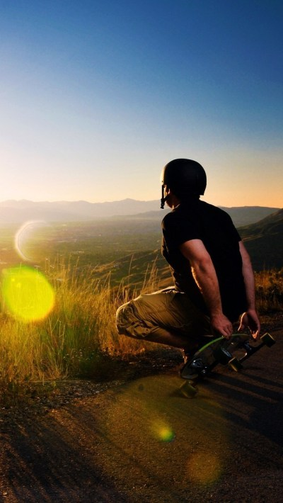 Skateboard Player Outdoor Wallpaper - Free iPhone Wallpapers
