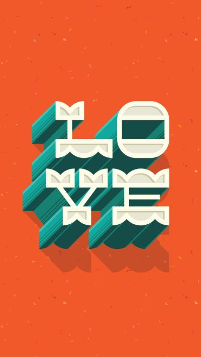 3D Love Text Effect Wallpaper - Free iPhone Wallpapers