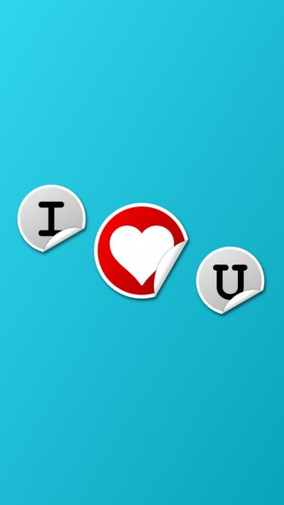 I Love You Stickers iPhone 6 / 6 Plus and iPhone 5/4 Wallpapers
