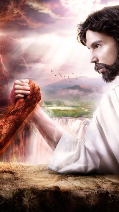 Jesus vs. Evil Wallpaper - Free iPhone Wallpapers