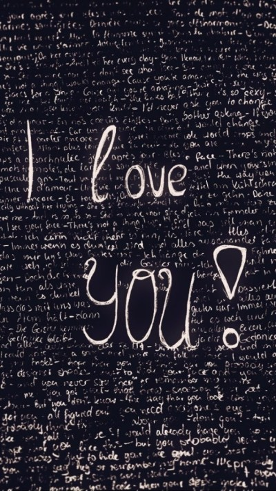 I Love You Doodle Wallpaper - Free iPhone Wallpapers