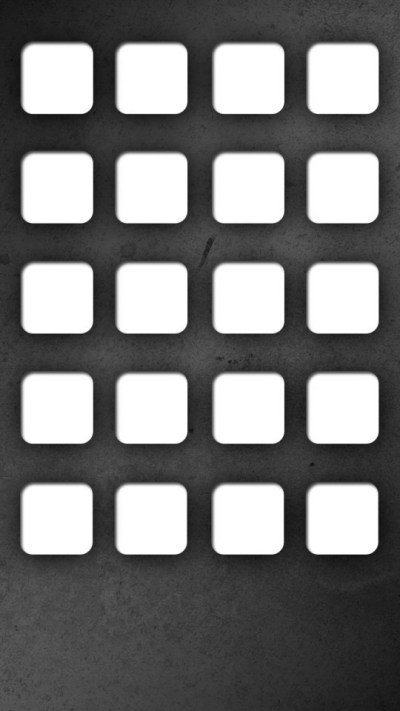 Clean App Borders with Dark Background Wallpaper - Free iPhone Wallpapers