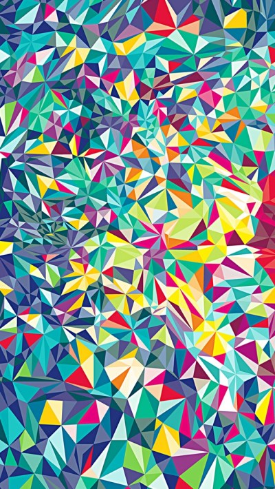 Colorful Kaleidoscope Pattern Wallpaper - Free iPhone ...