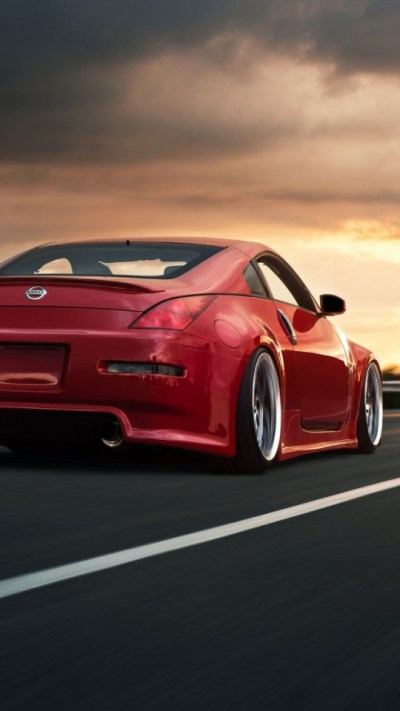 Nissan 350Z Red iPhone 6 / 6 Plus and iPhone 5/4 Wallpapers