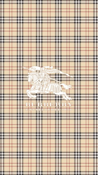 Burberry Logo & Pattern Wallpaper - Free iPhone Wallpapers