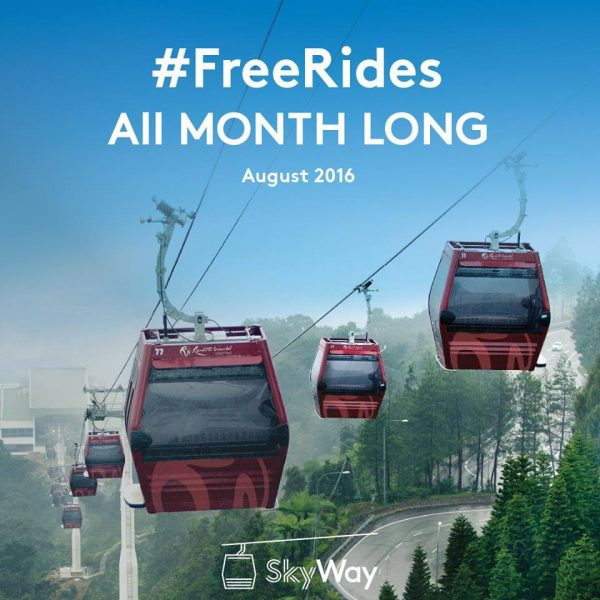 Awana Skyway FREE rides giveaway on August 2016