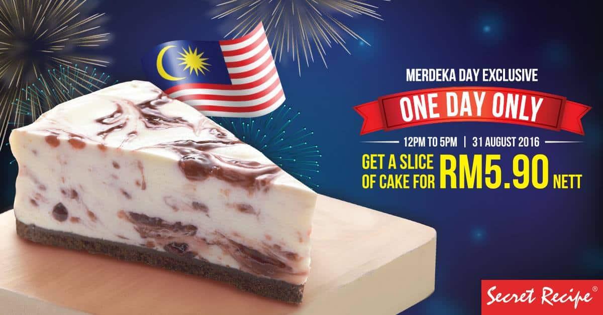 Secret Recipe RM5.90 Merdeka Day Promotion 2016