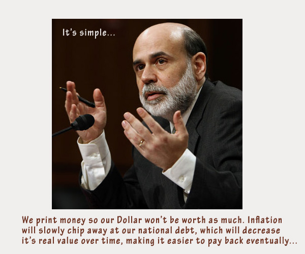 debt - ben bernanke on money printing