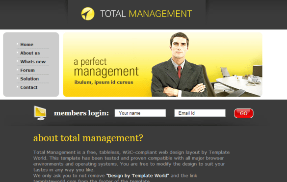 Total Management Template