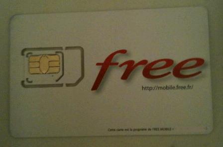 Carte SIM Free