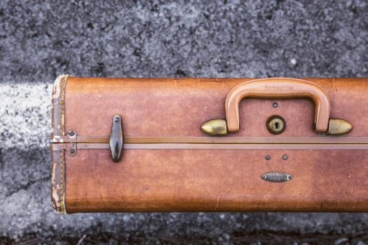 maleta, maletin, portafolios, valija, primer plano, viaje, cuero, vintage, antiguo,