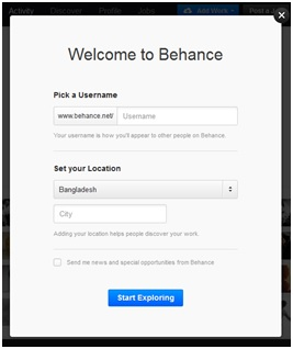 behance-accont-welcome