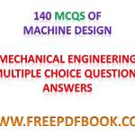 MACHINE DESIGN – Mechanical Engineering Multiple choice Questions Answers