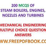 Steam Boilers Engines Nozzles and Turbines – Mechanical Engineering Multiple choice Questions Answers