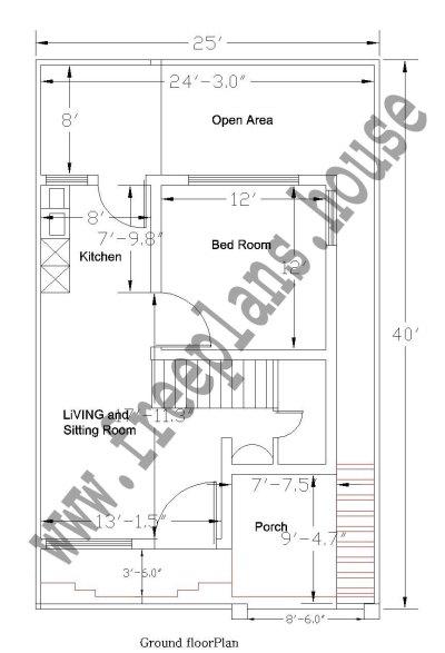 25×40 Feet /92 Square Meter House Plan