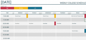 weekly schedule layout – Free Online Form Templates