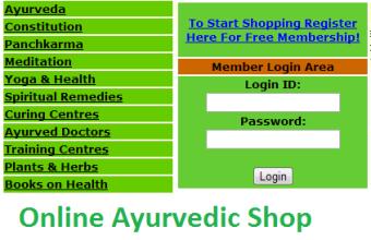 Online ayurvedic shop
