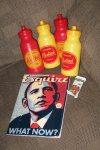 Magazine, Bottles and Granola Bar