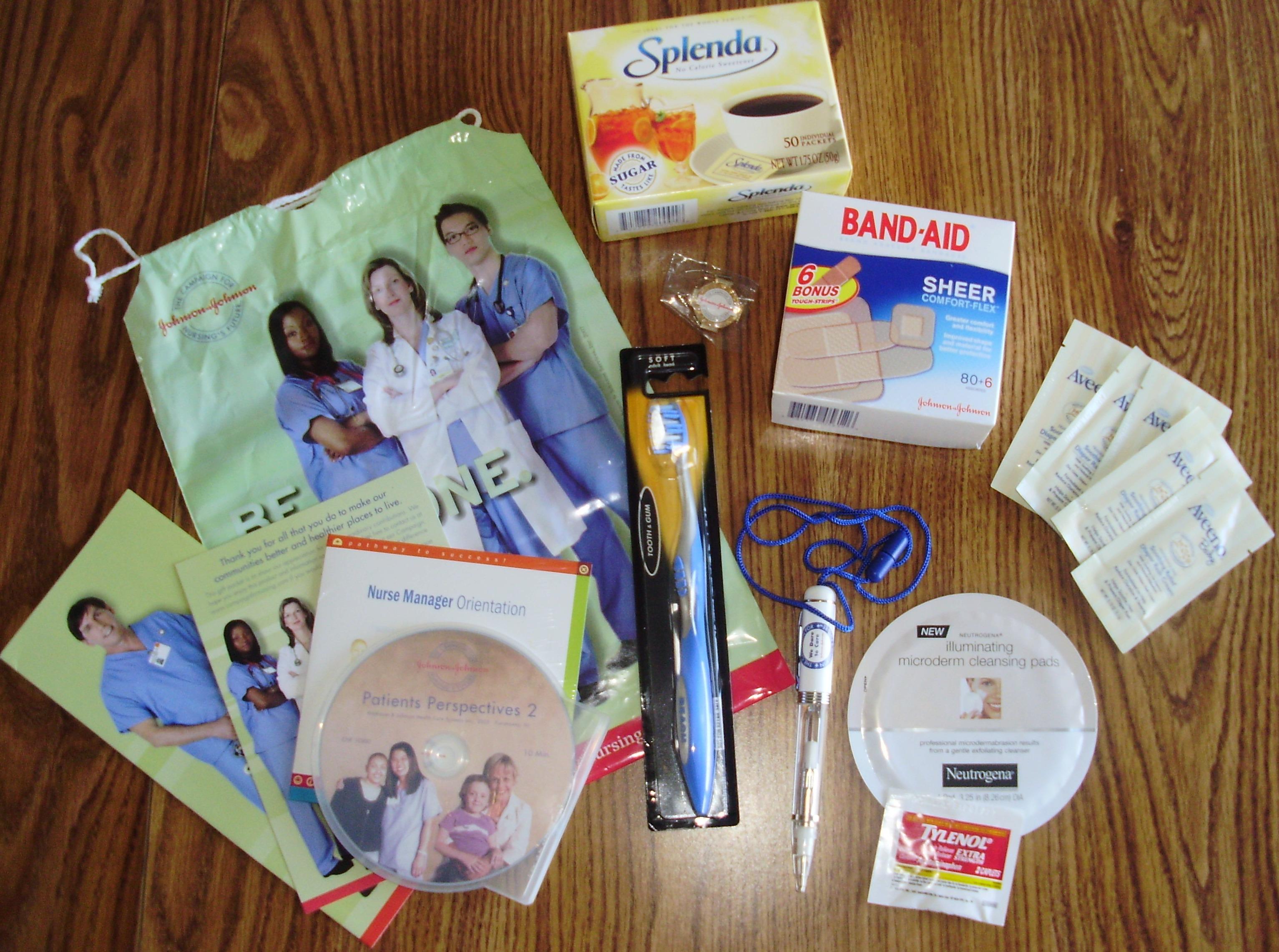 johnson  u0026 johnson nurses kit  u2022 free stuff times what i got
