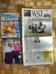 Better Homes and Garden August magazine - Woman Within catalog - The Wall Street Journal