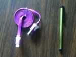 Free USB Cable & Touchscreen Pen from China Post