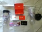 Prize Kit from Skinny Cow - Nike Gift - Glamourous Tumblers - Ice Cream coupon - Sephora gift card - from Dreyers