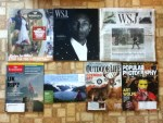 Murdoch's Ranch & Home Supply catalog - The Wall Street Journal September 2014 Men's Style magazine & daily paper - The Economist Weekly - Princess Cruises 2015 Alaska Travel guide - Outdoor Life October magazine - Popular Photograph