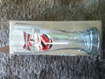 Winner of a Glass designed with Budweiser-Kevin Harvick's primary red white & blue car in the Budweiser Glassware Giveaway