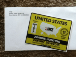United States 4 Wheel Drive Hardware Zombie Hunting Permit 2014-2015 sticker from 4WD