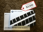 Happy Holidays Card from BMW - A one-of-kind imprint card was created using an actual BMW M6 tire