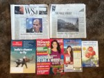 2 - Wall Street journals - The Economist Weekly - Woman's World March magazine - ARBICO Fly Eliminators Serious Fly Control catalog  - Weber Scientific catalog