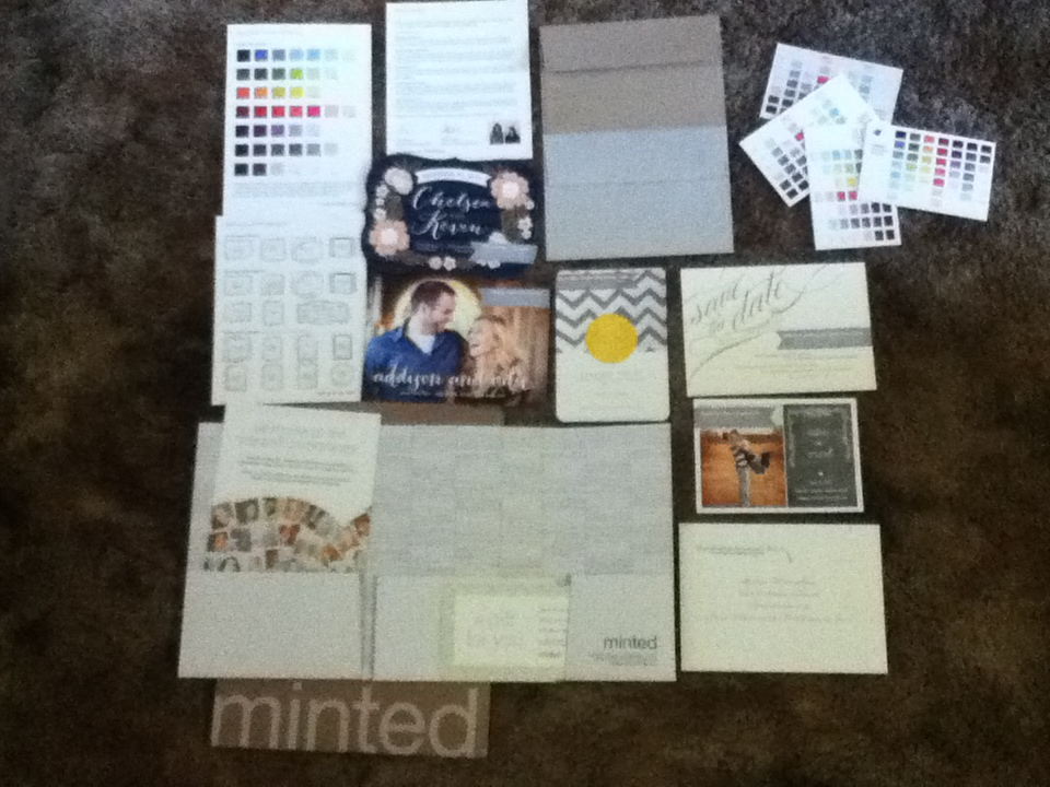 minted wedding invitations - cards