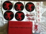 Free Swag from Fireball Whisky - Free Glass - Keychain Bottle Openers - Tattoos - Stickers from DRI View Manufacturing Co Inc