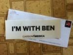 I'M WITH BEN CARSON AMERICA Sticker