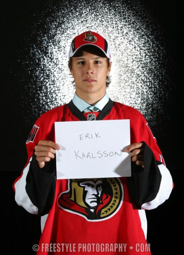OTTAWA - June 21: Erik Karlsson on June 21, 2008 in Ottawa, Ontario, Canada. (Photo by Andre Ringuette/Getty Images)