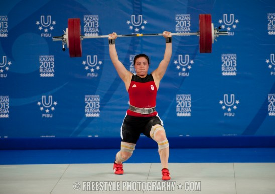 KAZAN, RUSSIA - 13-07-11: Weightlifting. Summer Universiade 2013, Kazan, Russia (PHOTO: Matt Zambonin/Freestyle Photography)