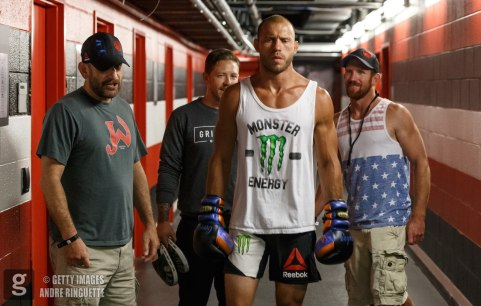 OTTAWA, ON - JUNE 18: Donald Cerrone prepares backstage during the UFC Fight Night event inside the TD Place Arena on June 18, 2016 in Ottawa, Ontario, Canada. (Photo by Andre Ringuette/Zuffa LLC/Zuffa LLC via Getty Images)