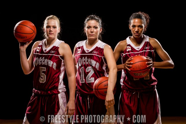 Gee-Gees Basketball studio shoot Oct. 12, 2011 (PHOTO: Andre Ringuette/Freestyle Photography)