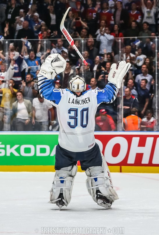 BRATISLAVA, SLOVAKIA - MAY 26: Canada vs Finland gold medal game of the 2019 IIHF Ice Hockey World Championship at Ondrej Nepela Arena on May 26, 2019 in Bratislava, Slovakia. (Photo by Andre Ringuette/HHOF-IIHF Images)