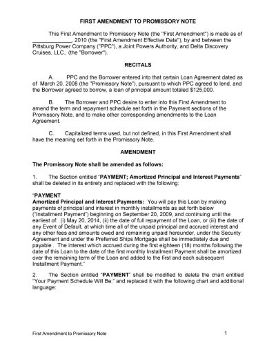 45 FREE Promissory Note Templates & Forms [Word & PDF] - Free Template Downloads