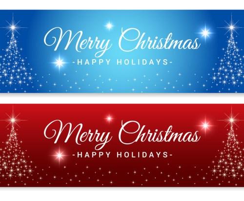 Medium Of Merry Christmas Banner