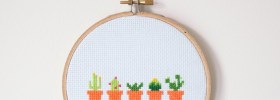 Spring Cactus Cross Stitch Free Cross Stitch Pattern from Makers Society