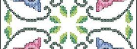 cute owl cross stitch pattern for making biscornu or pincushion