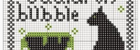 cire burn cauldron bubble free cross stitch pattern preview