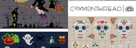 halloween and day of the dead free cross stitch patterns from DMC Commonthread blog