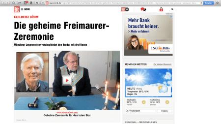 Freimaurer-Beisetzungs-Zeremonie für Karlheinz Böhm