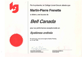 Bell Canada Scholarship