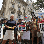 Gay rights activists outside Russian consulate in NYC